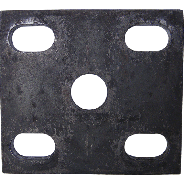 FISH PLATE 100X100X8mm  1/2 INCH Hole SLOTTED  Suite 45 mm WIDE SPRING & AXLE