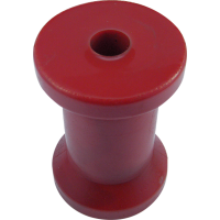 KEEL ROLLER  RED POLY 4.5 INCH 5/8 HOLE
