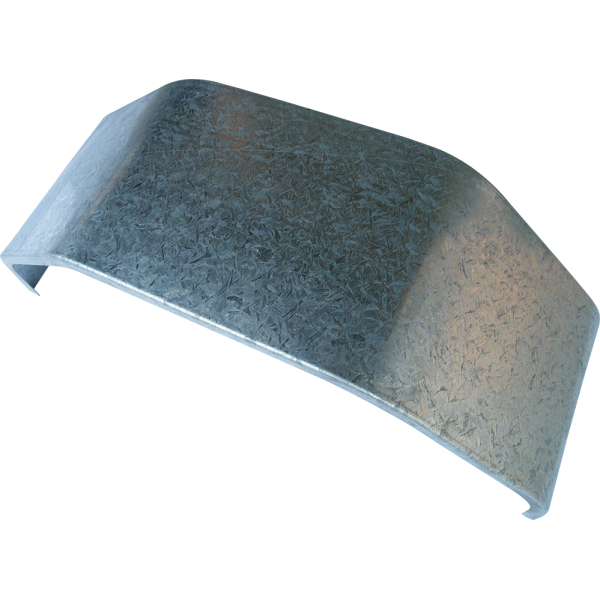 MUDGUARD GALVANISED 8 INCH WIDE TO SUIT 13 INCH WHEEL