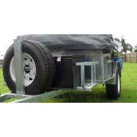 4WD TRAILER,HEAVY DUTY CHASSIS , LONG DRAW BAR, TYRE RACK