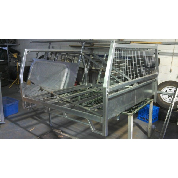 SOLD*** GALV UTE TRAY CUSTOM MADE, SUIT TWIN CAB 1830W X 1810L